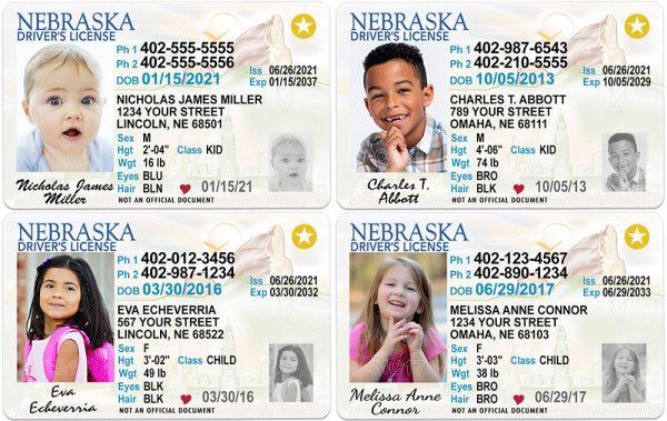 Nebraska Kid Driver License
