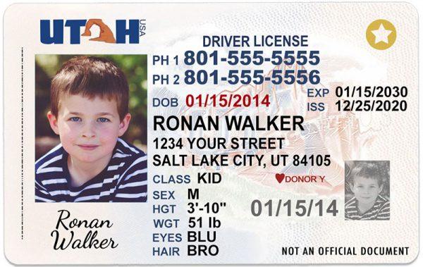 Utah Kid Driver License