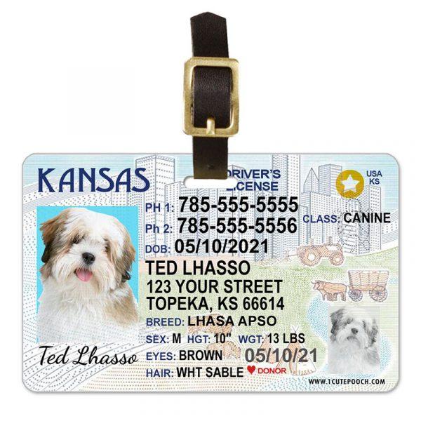 Kansas Pet Driver License Luggage Tag