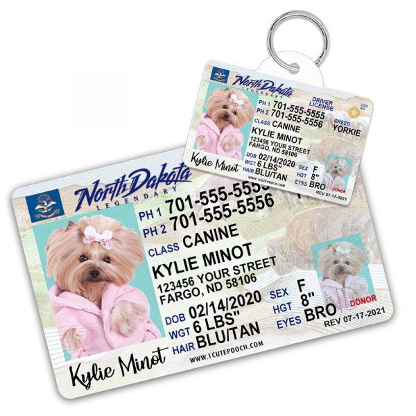north dakota pet driver license id tag